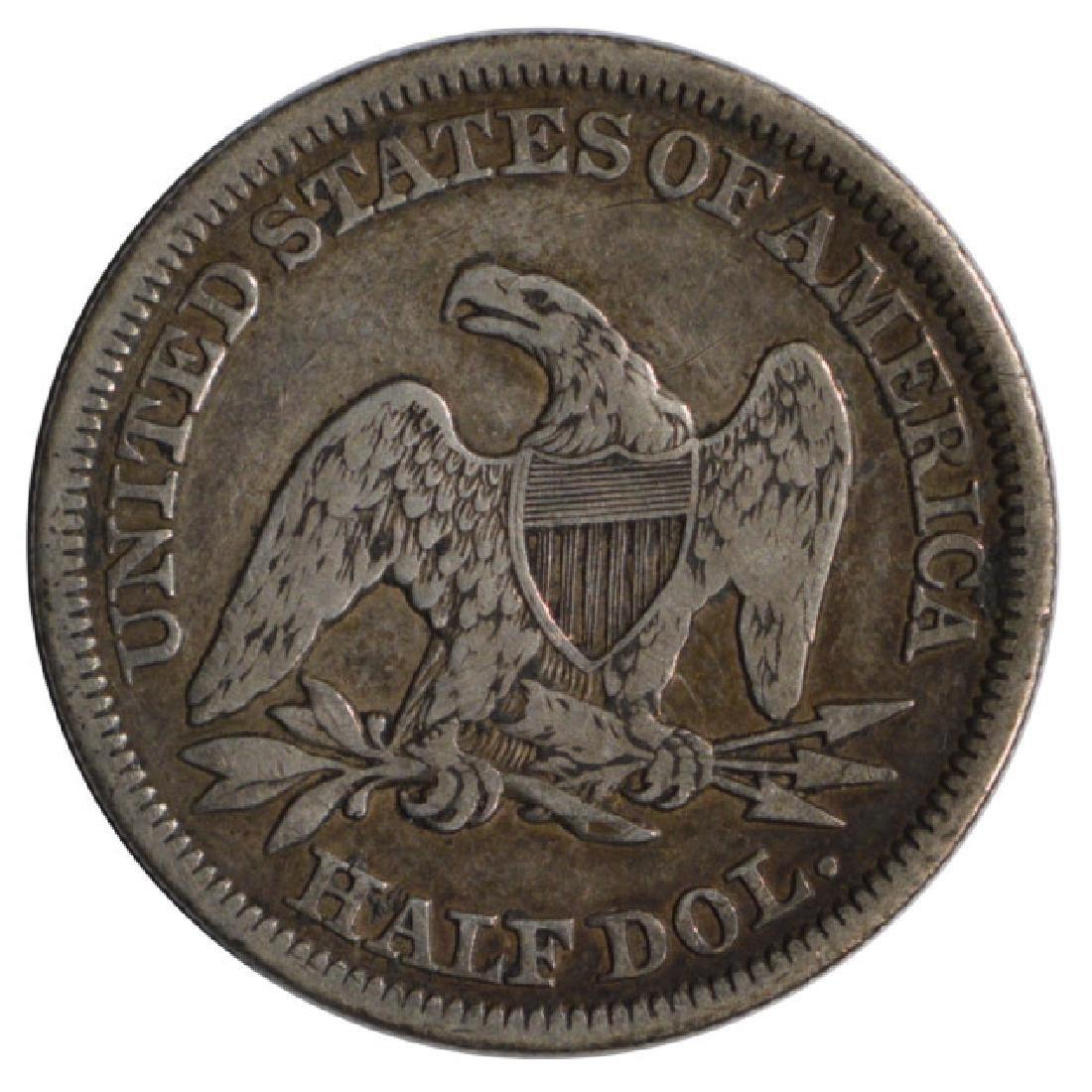 1854 Seated Liberty Half Dollar Coin - 2