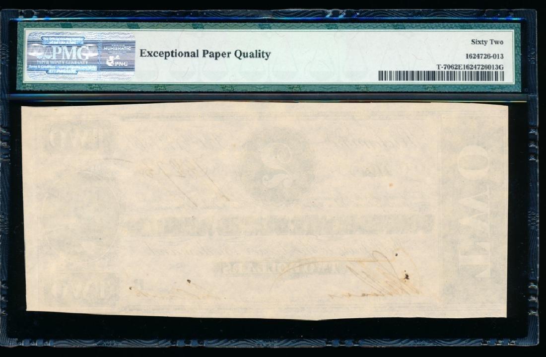 1864 $2 Confederate States of America Note PMG 62EPQ - 2