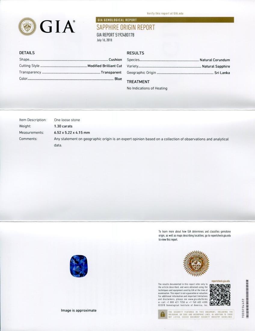 1.3ct GIA Certified Sri Lankan/Ceylonese Unheated - 6