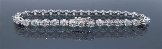 18KT White Gold 425ctw Diamond Bracelet