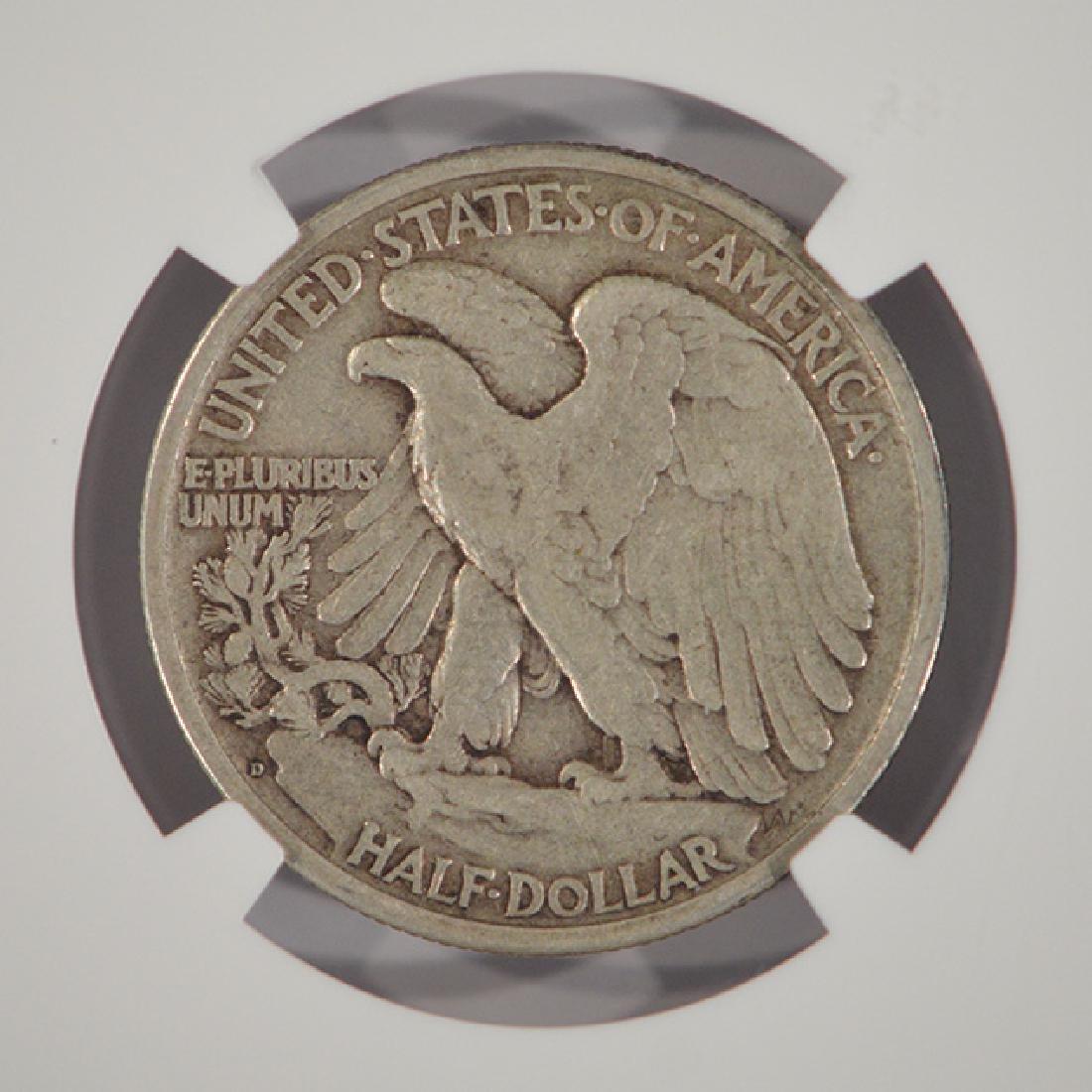 1917-D Reverse Mintmark Walking Liberty Half Dollar NGC - 4