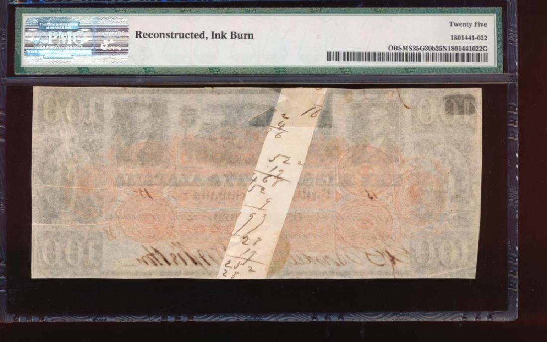 1838 $100 Mississippi and Alabama Rail Road Co Obsolete - 2