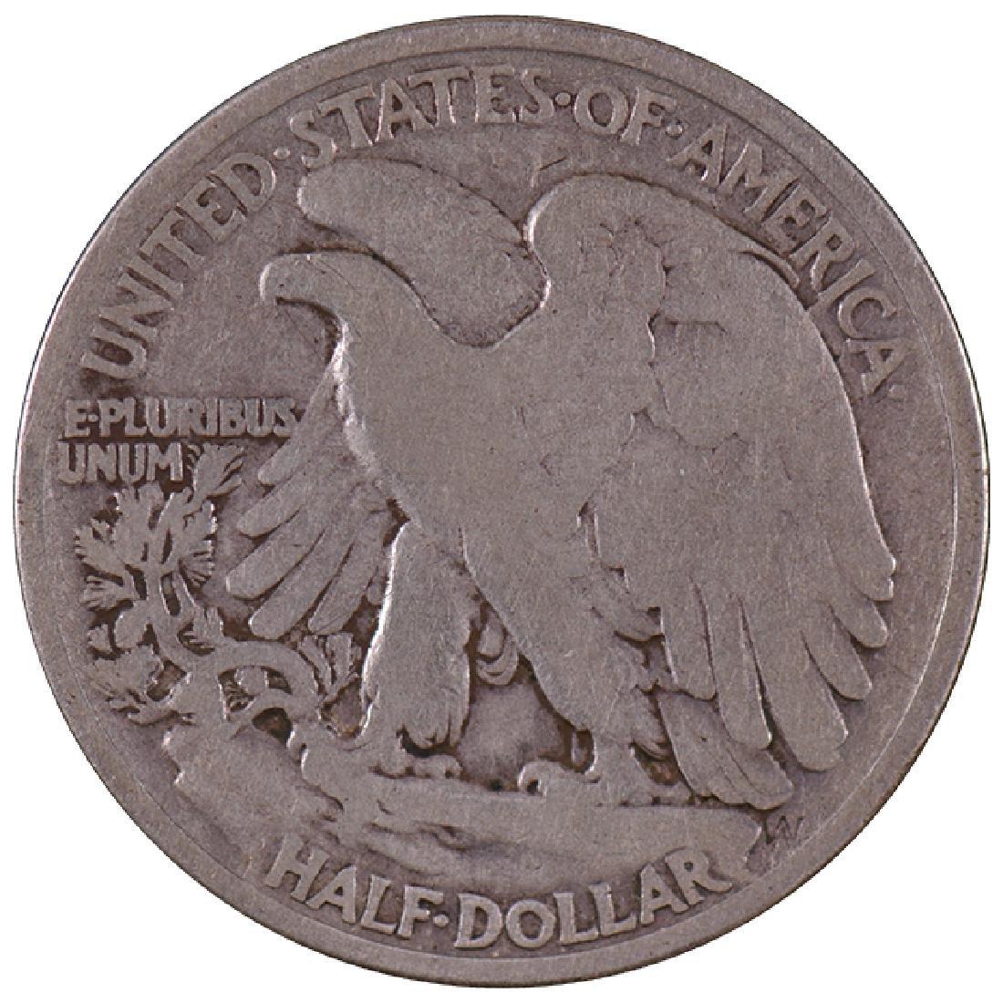 1921 Walking Liberty Half Dollar Coin - 2