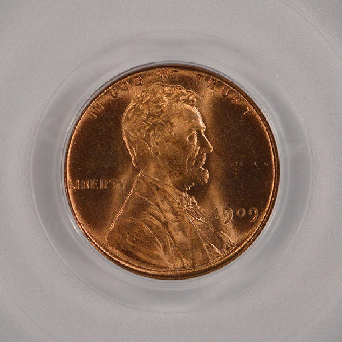 1909 Lincoln Cent Coin PCGS MS65RD - 3