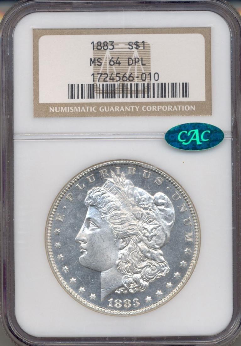 1883 $1 Morgan Silver Dollar Coin NGC MS64DPL