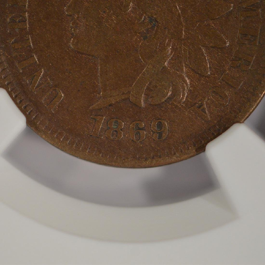 1869/69 Indian Cent NGC VF35BN - 2