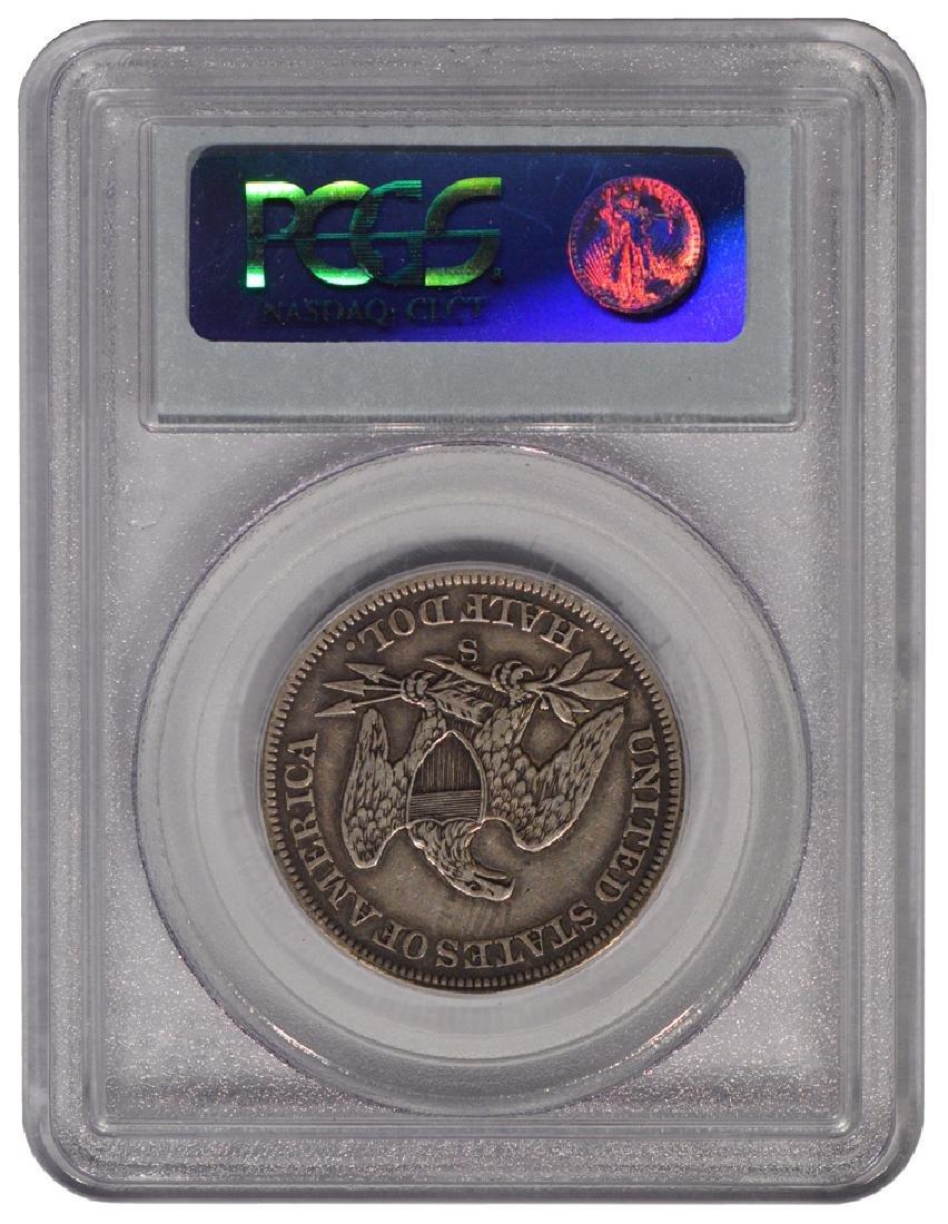 1858-S Seated Liberty Half Dollar Coin PCGS VF35 - 2