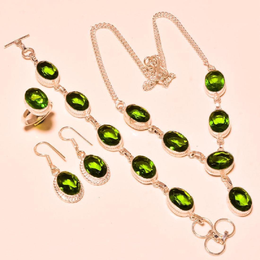 4 Piece Peridot Jewelry Set