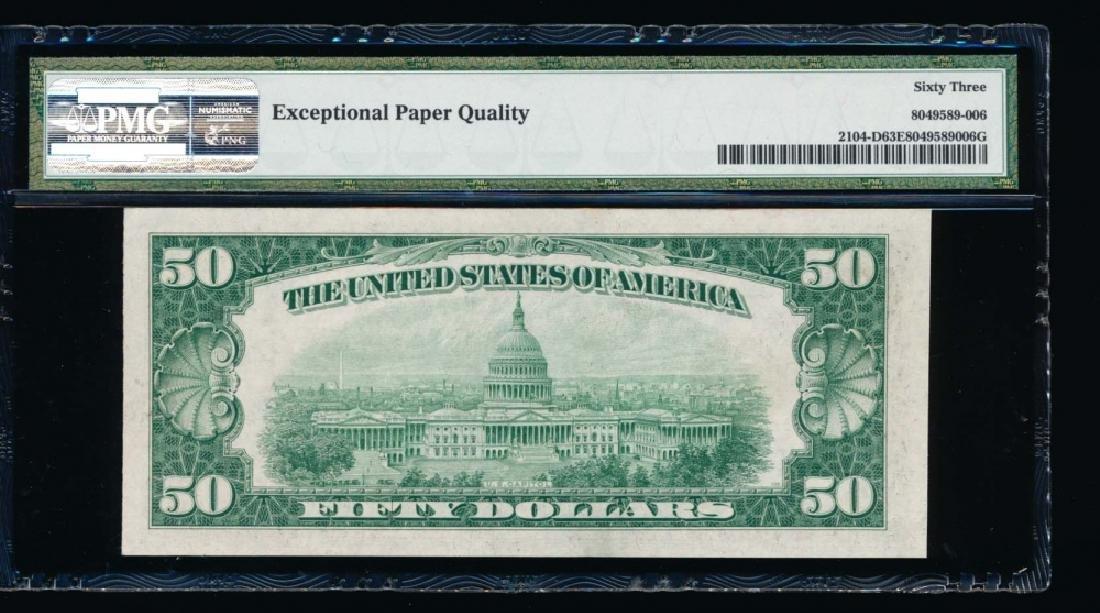 1934B $50 Cleveland Federal Reserve Note PMG 63EPQ - 2