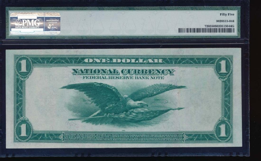 1918 $1 Cleveland Federal Reserve Bank Note PMG 55 - 2