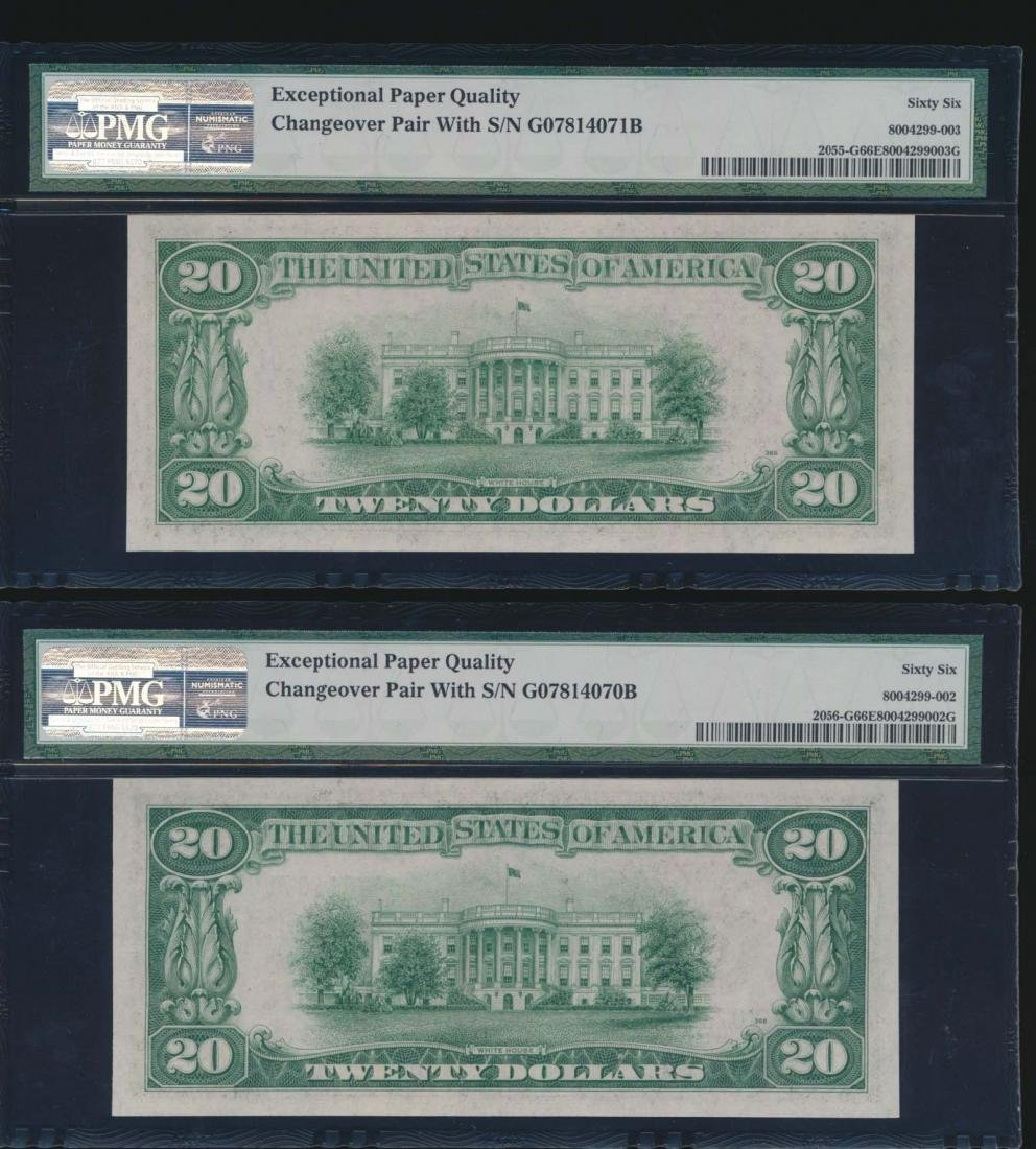 1934A and 1934B $20 Chicago Federal Reserve Notes PMG - 2