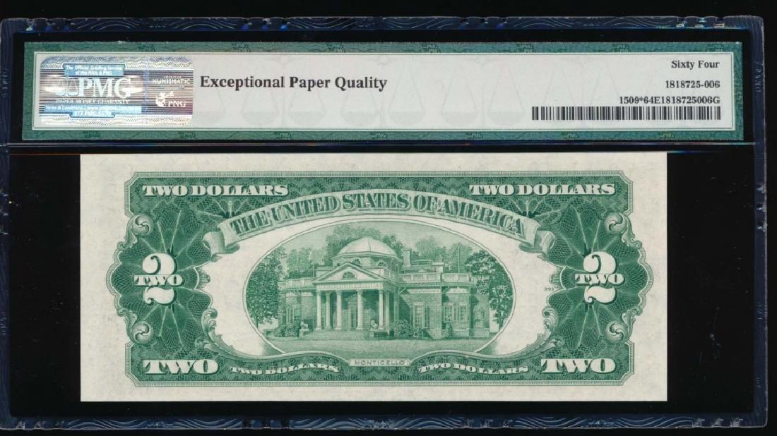 1953 $2 Legal Tender Star Note PMG 64EPQ - 2