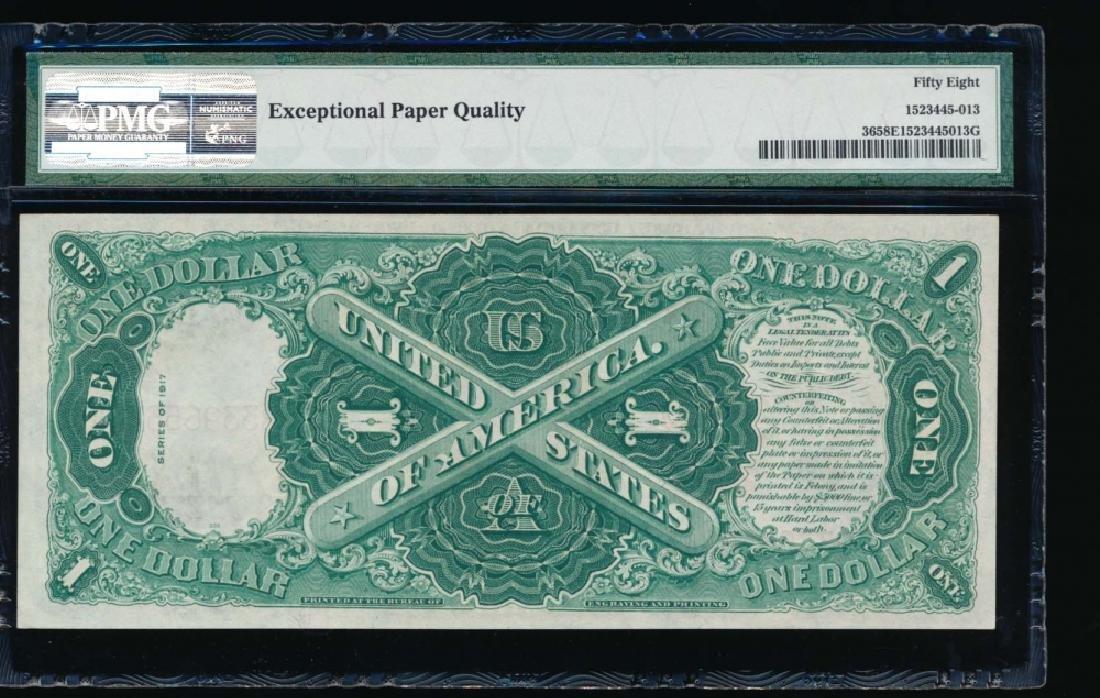 1917 $1 Legal Tender Note PMG 58EPQ - 2