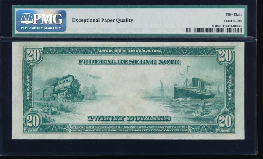 1914 $20 Atlanta Federal Reserve Note PMG 58EPQ - 2