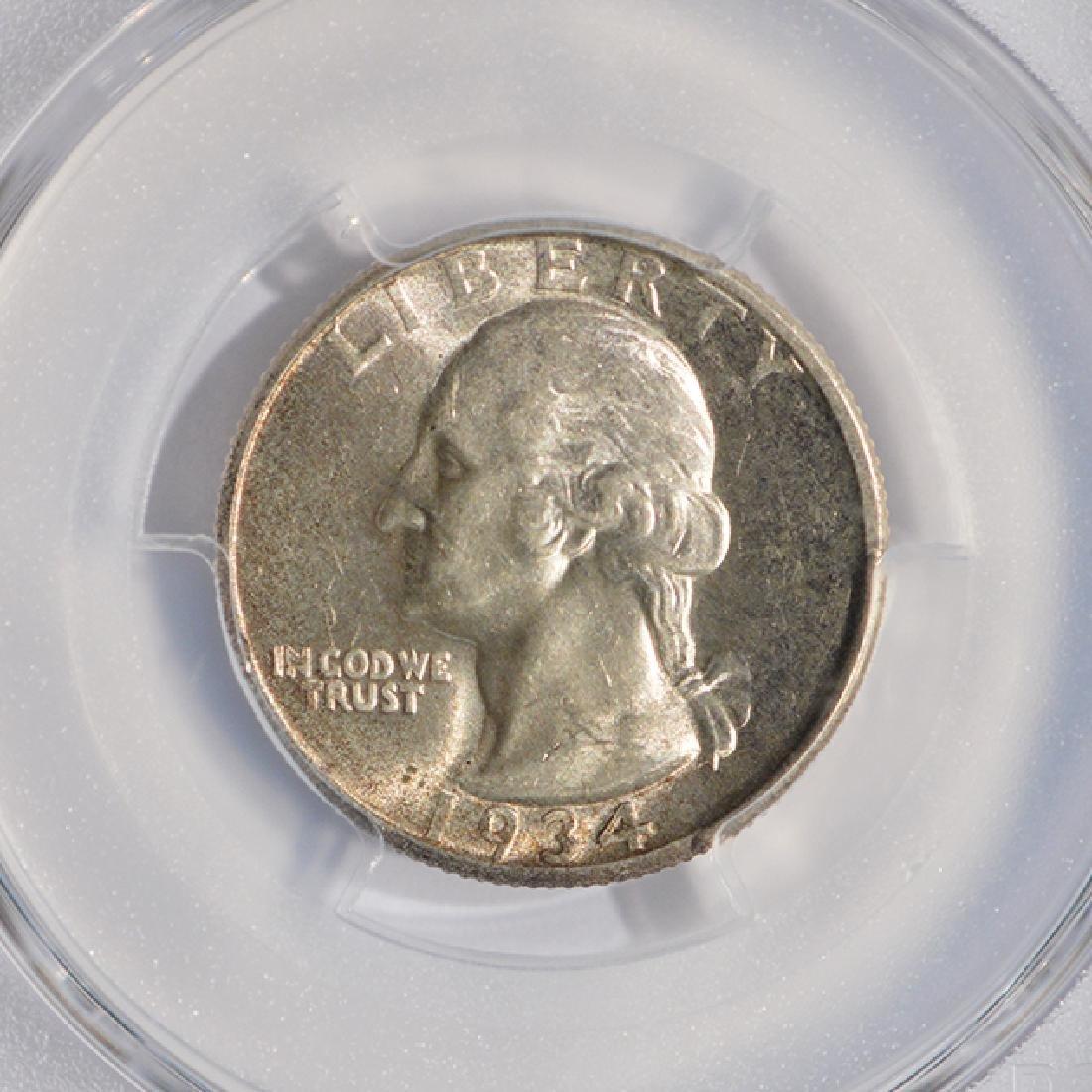 1934-D Washington Quarter PCGS AU58 - 3