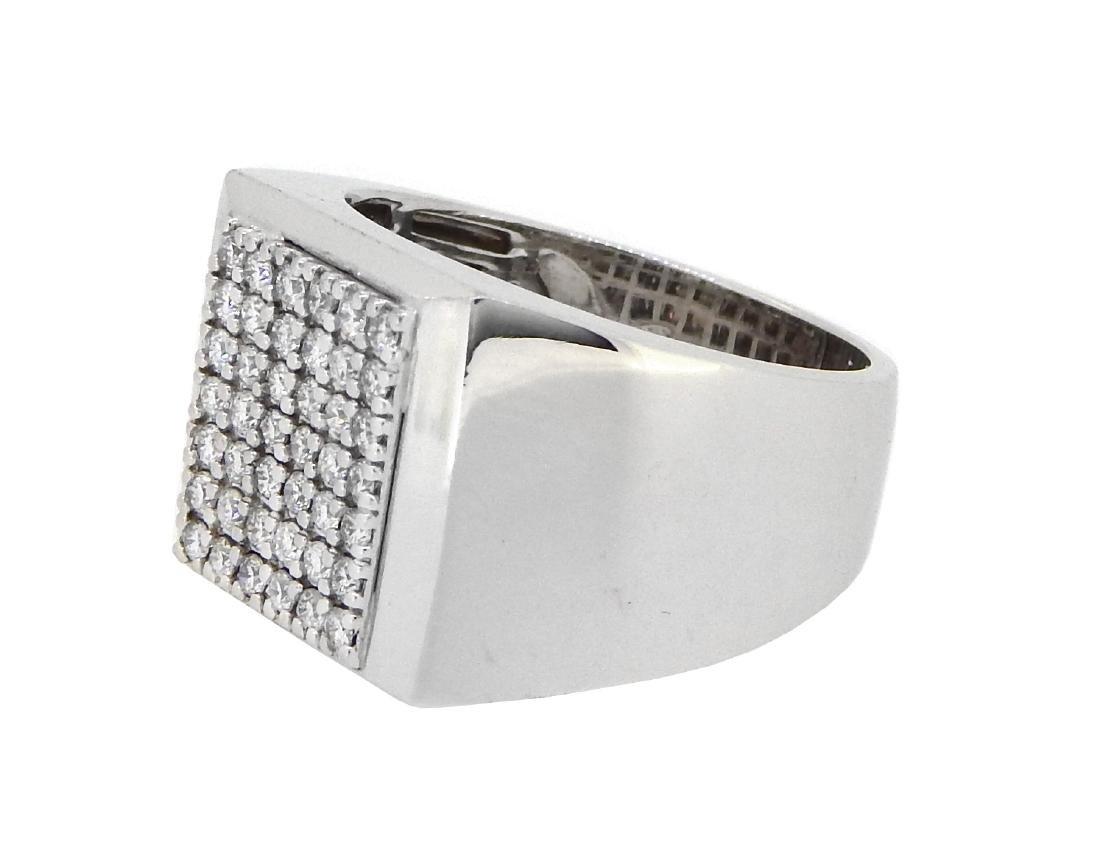 14KT White Gold 0.67ctw Diamond Ring - 2