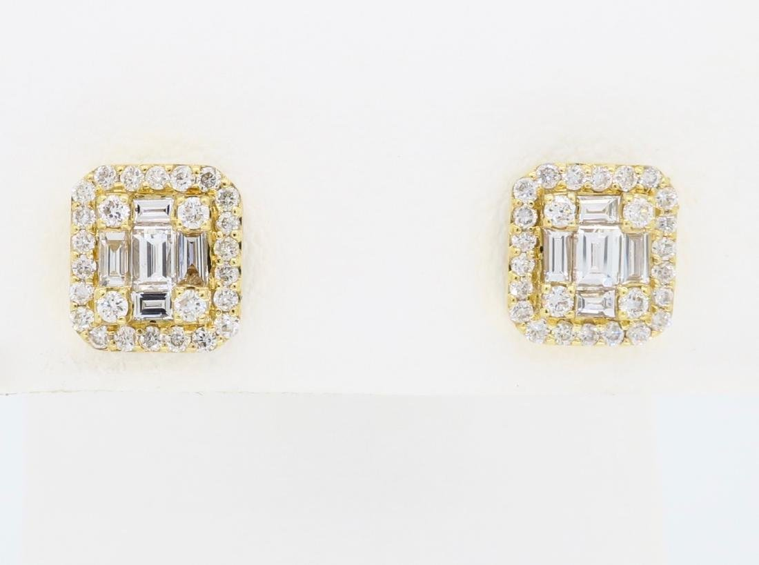 18KT Yellow Gold 0.68ctw Diamond Earrings