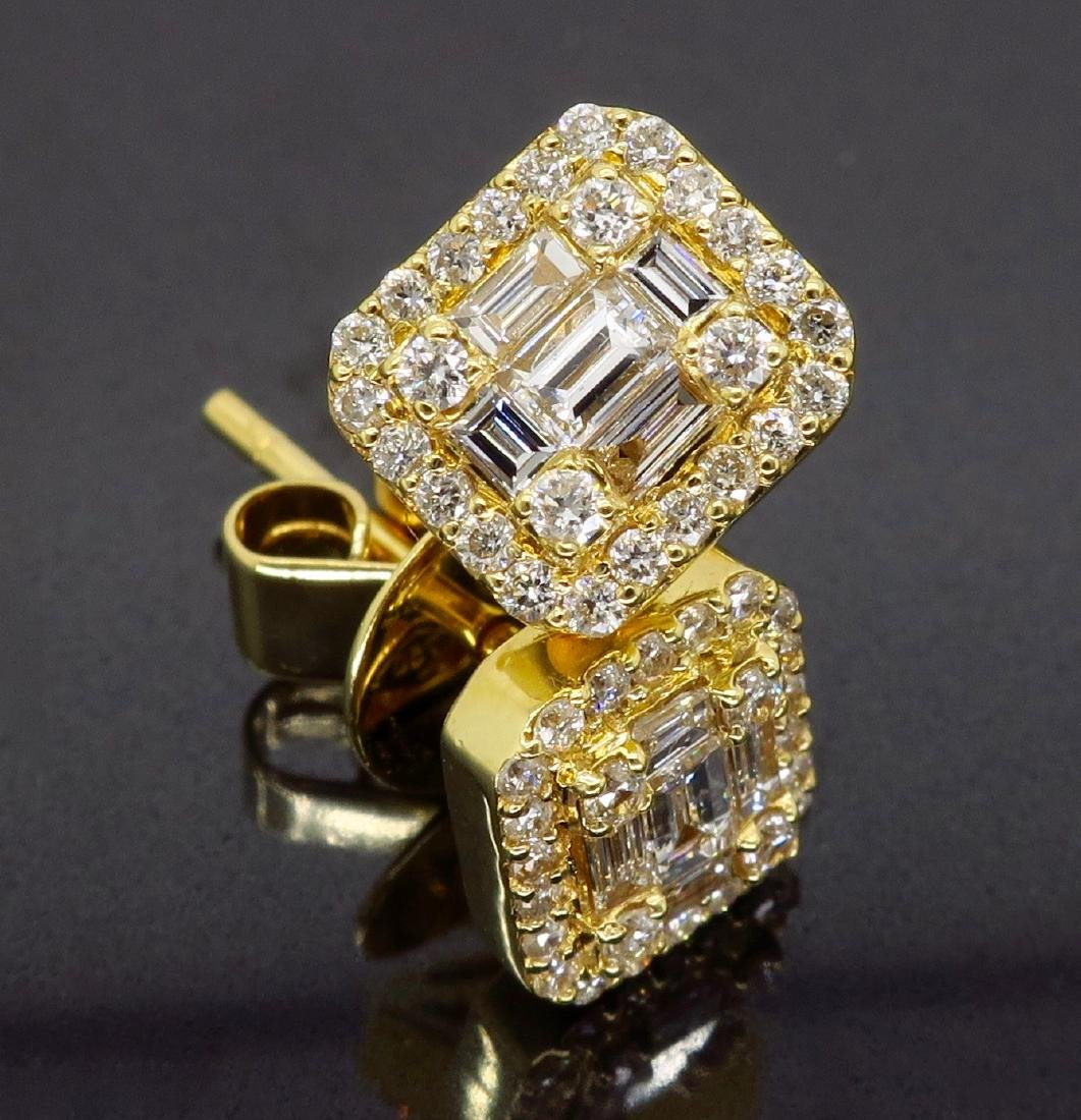 18KT Yellow Gold 0.68ctw Diamond Earrings - 3