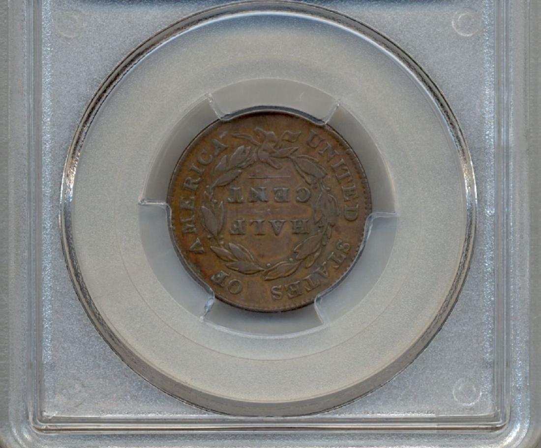 1826 Liberty Half Cent Coin PCGS VF35 - 2