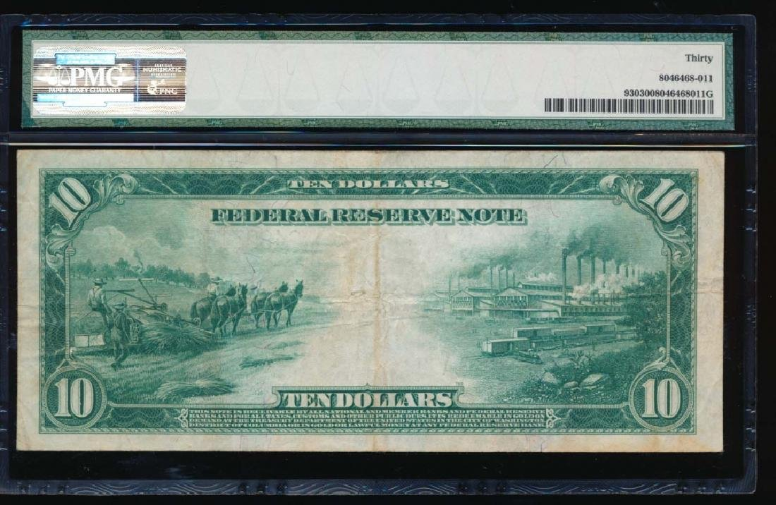 1914 $10 Chicago Federal Reserve Note PMG 30 - 2