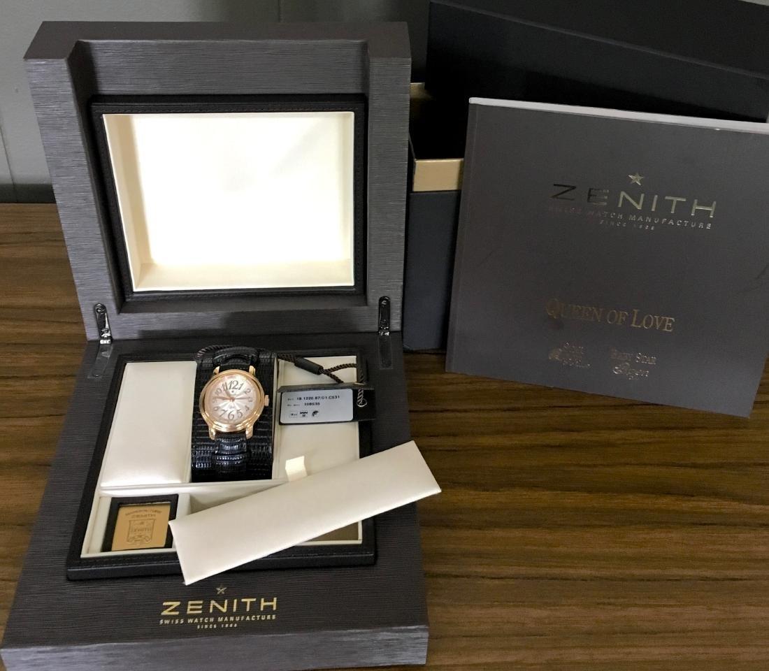 18KT Rose Gold Zenith Ladies Wristwatch - 10