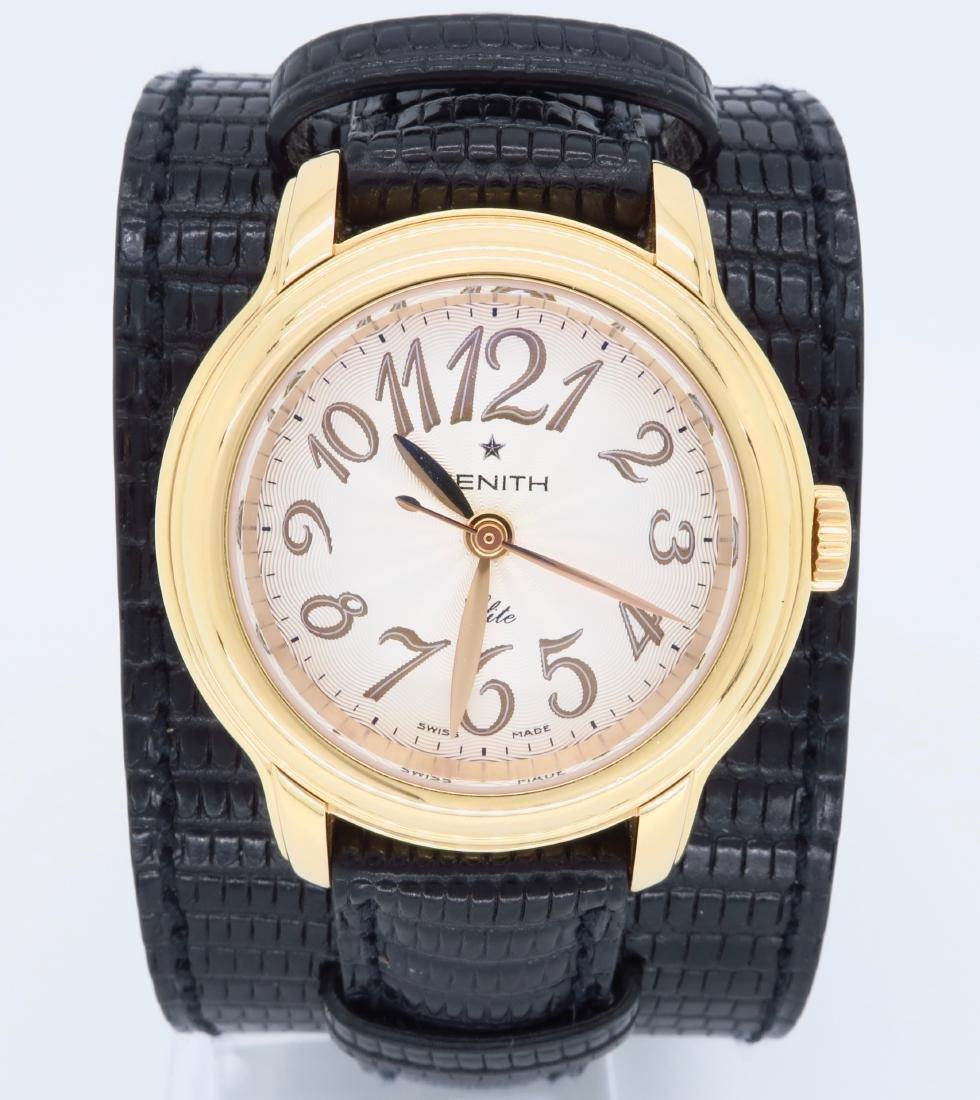 18KT Rose Gold Zenith Ladies Wristwatch - 4