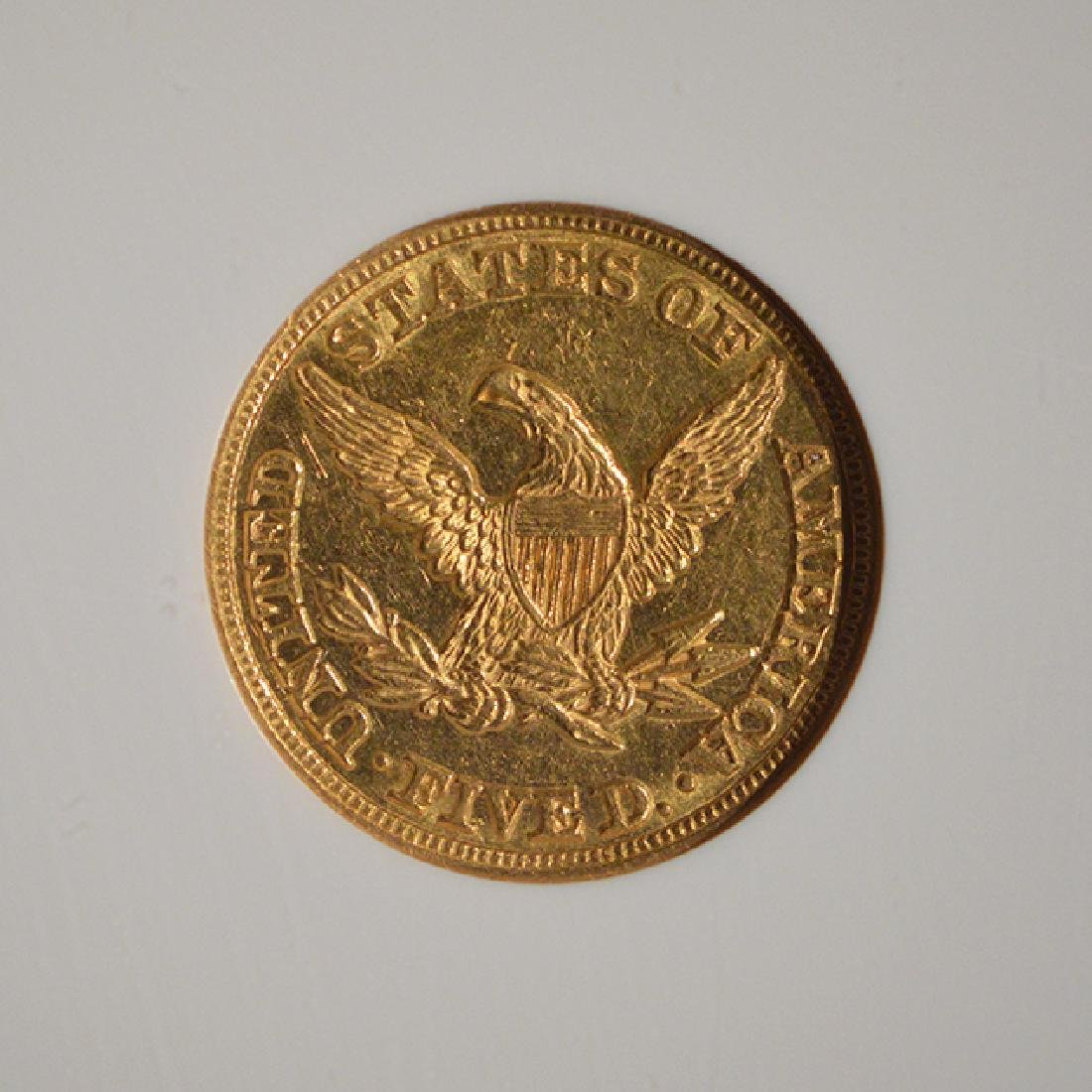 1847 $5 Liberty Head Half Eagle Gold Coin NGC AU58 - 4