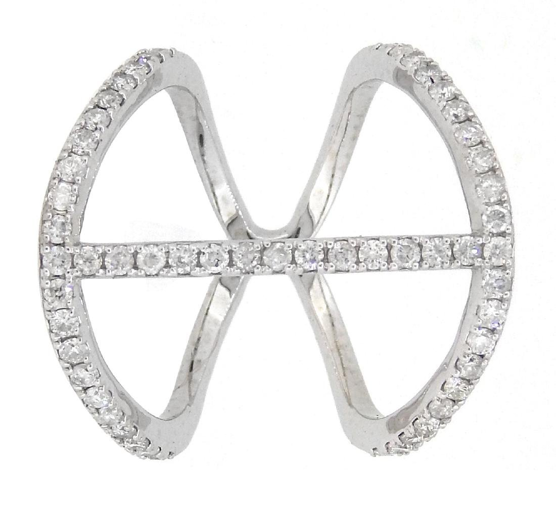 14KT White Gold 0.70ctw Diamond Ring