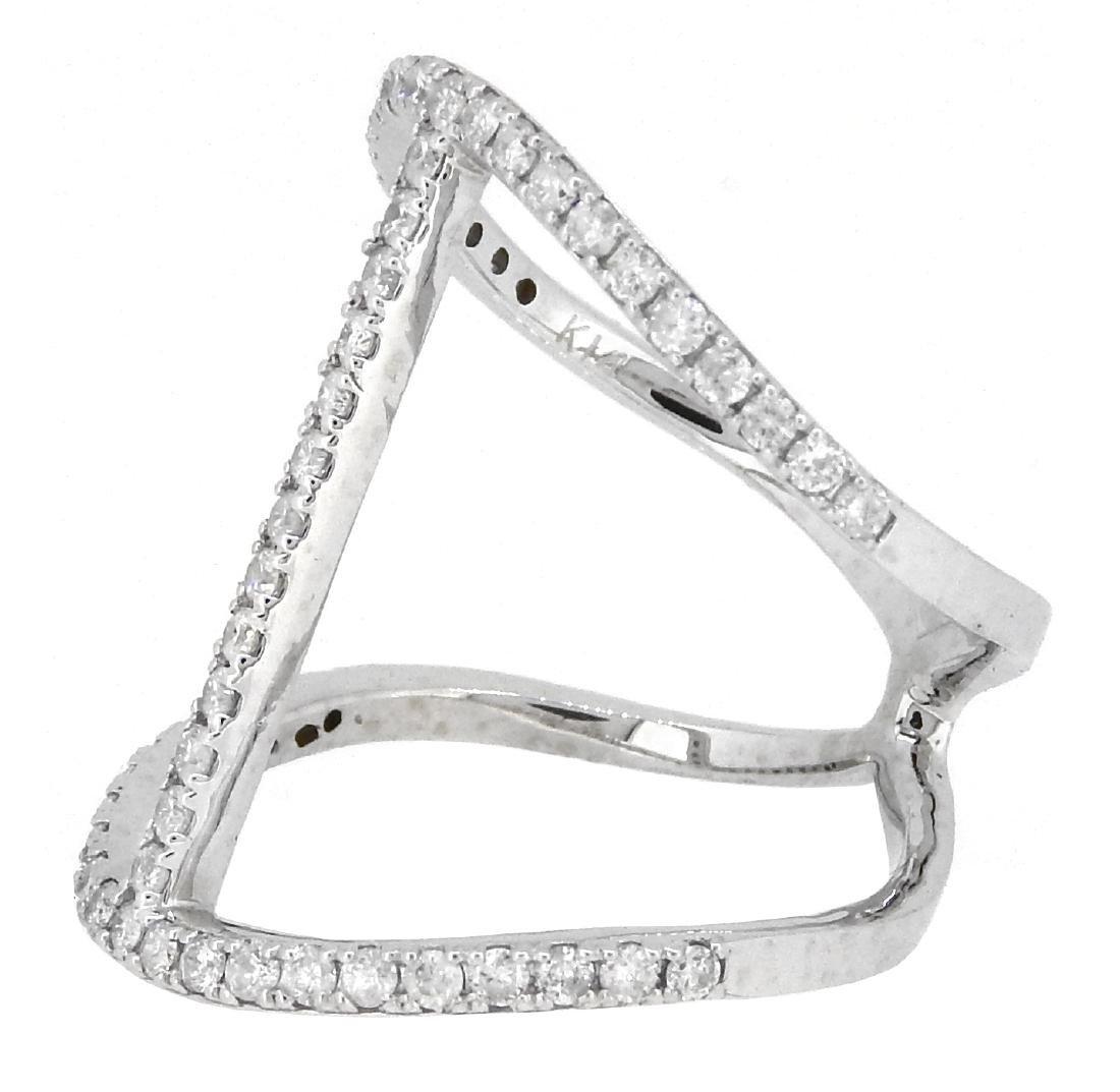 14KT White Gold 0.70ctw Diamond Ring - 2