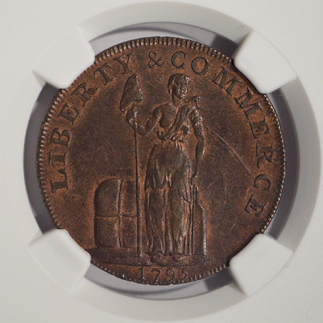 1795 Letter Edge Cent Coin NGC MS61BN - 3