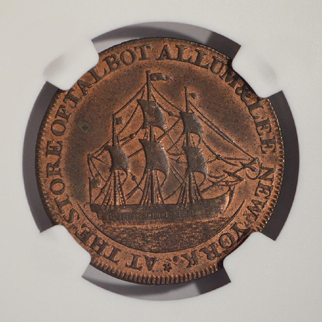 1795 Letter Edge Cent Coin NGC MS61BN - 4