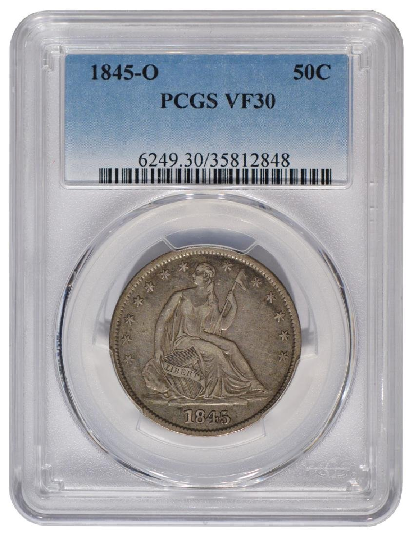 1845-O Seated Liberty Head Half Dollar Coin PCGS VF30