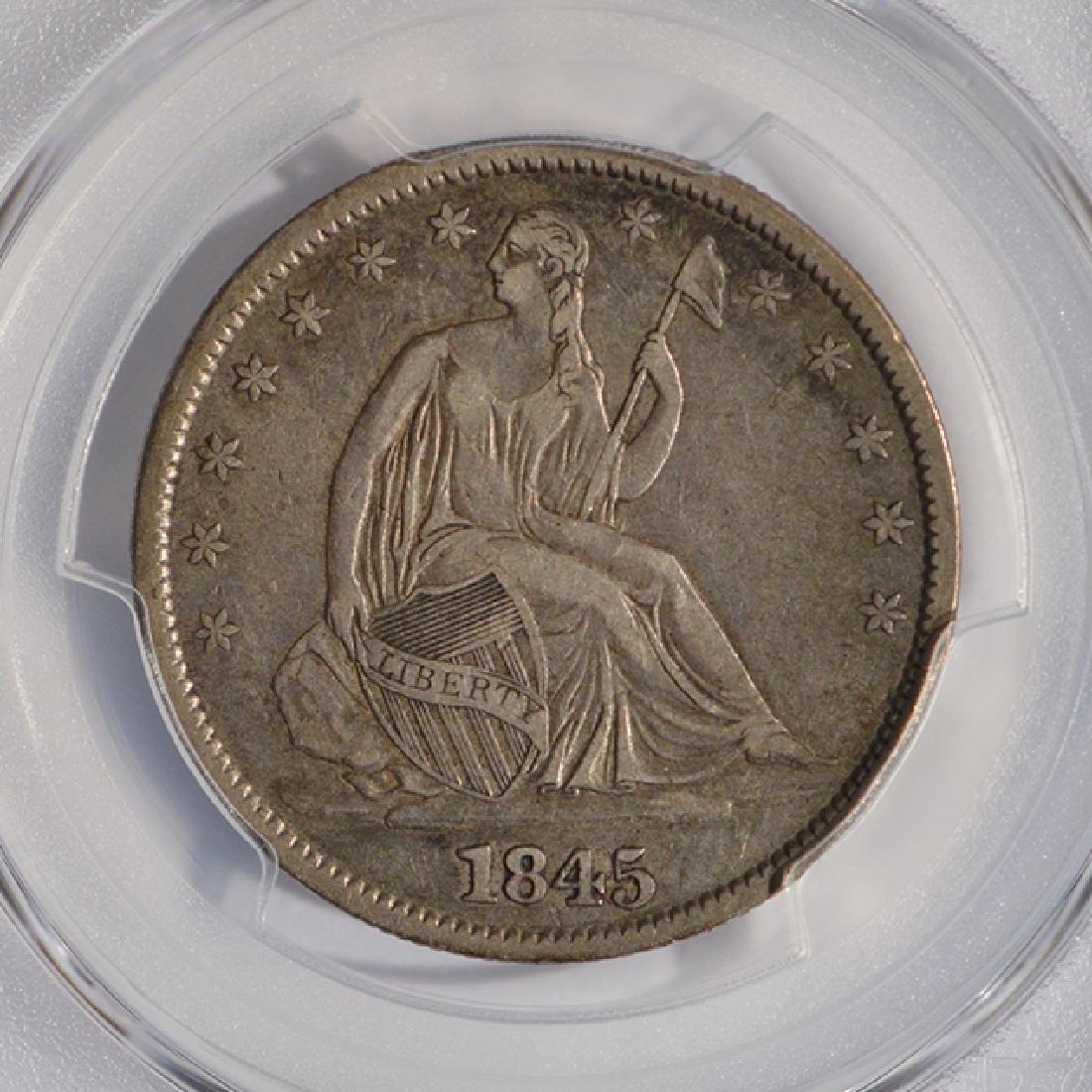 1845-O Seated Liberty Head Half Dollar Coin PCGS VF30 - 3