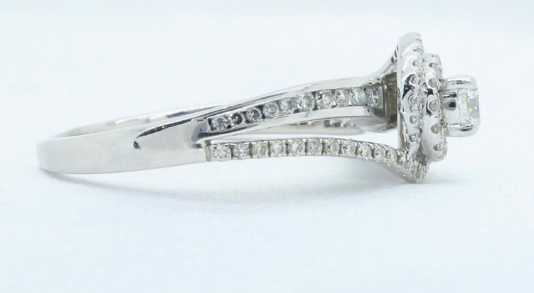 14KT White Gold 0.68ctw Diamond Ring - 5