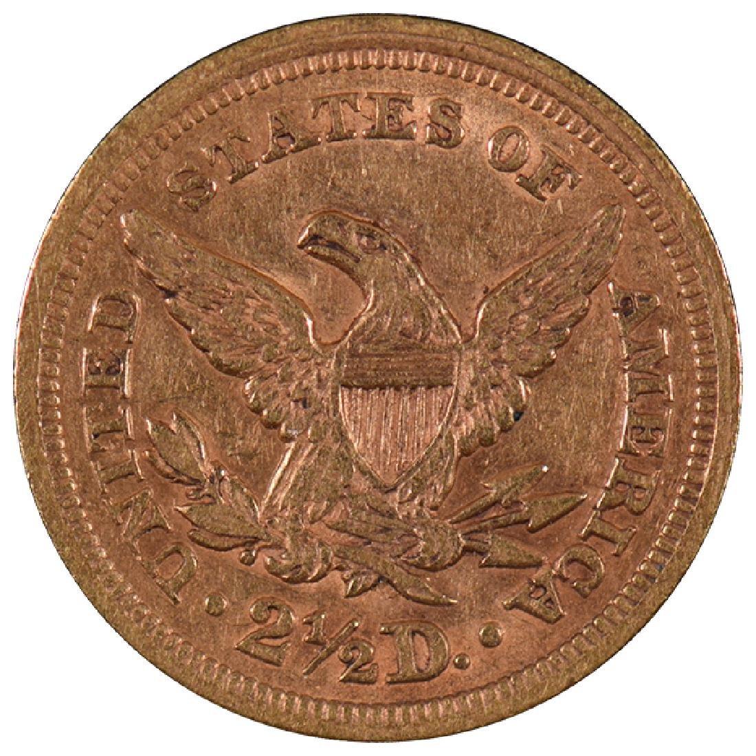 1852 $2 1/2 Liberty Head Quarter Eagle Gold Coin - 2