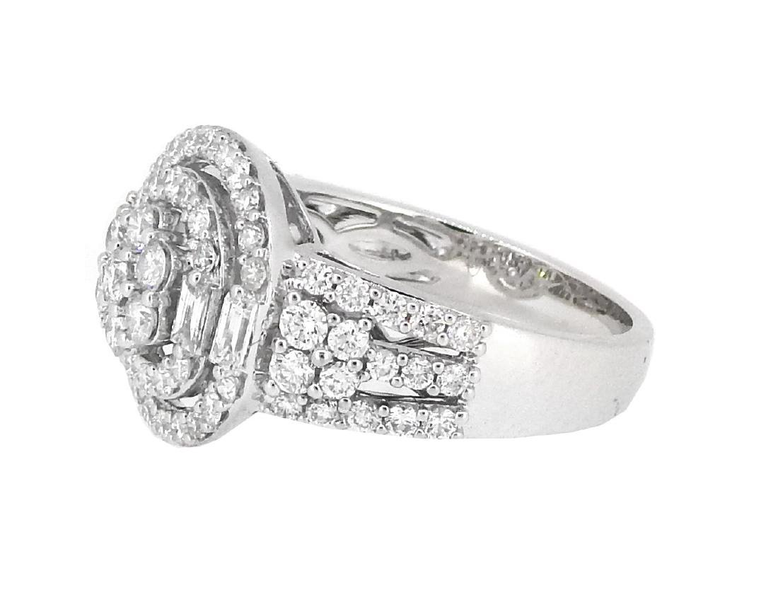 18KT White Gold 1.54ctw Diamond Ring - 2