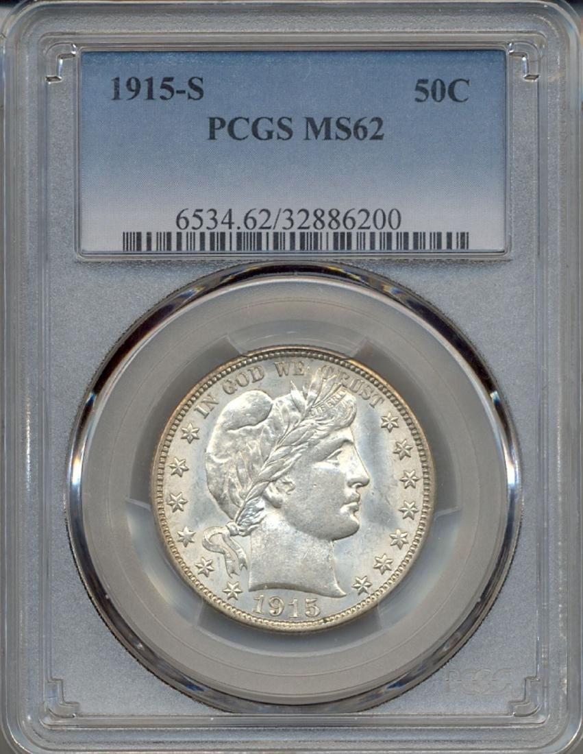 1915-S Baber Half Dollar Coin PCGS MS62