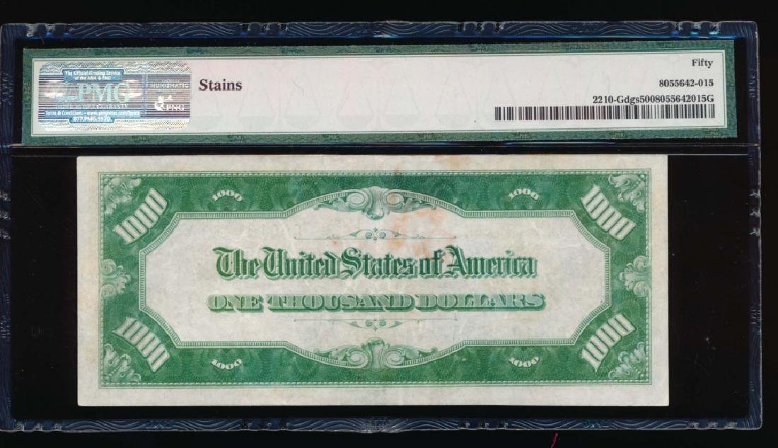 1928 $1000 Chicago Federal Reserve Note PMG 50 - 2