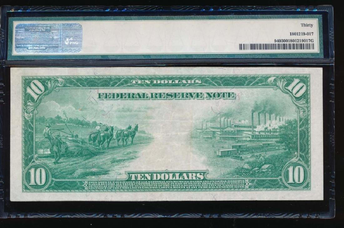1914 $10 Kansas City Federal Reserve Note PMG 30 - 2