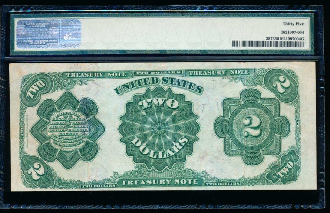 1891 $2 Treasury Note PMG 35 - 2