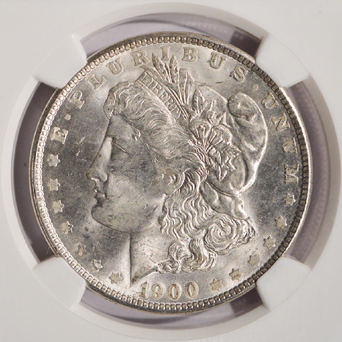 1900 $1 Morgan Silver Dollar Coin NGC MS64 - 3