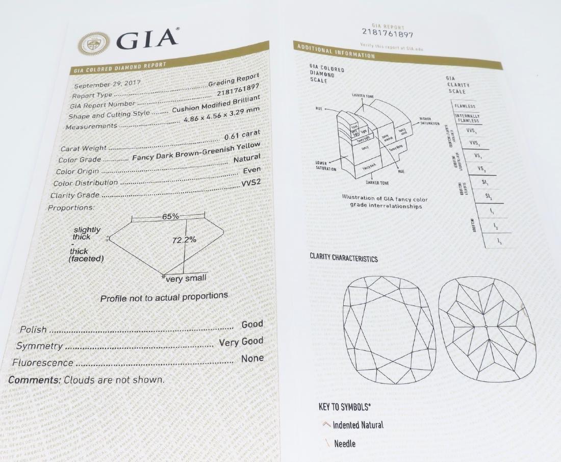 14KT White Gold GIA Cert 0.61ct Diamond Pendant with - 5