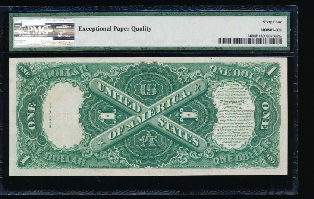 1917 $1 Legal Tender Note PMG 64EPQ - 2
