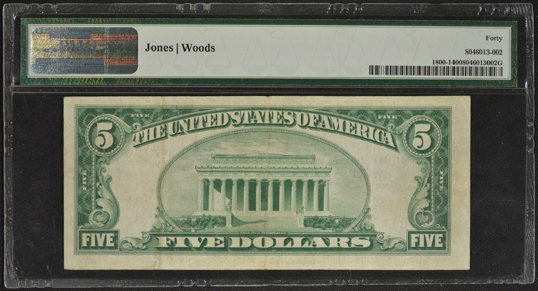 1929 $5 First National Bank of Evart Michigan Note PMG - 2