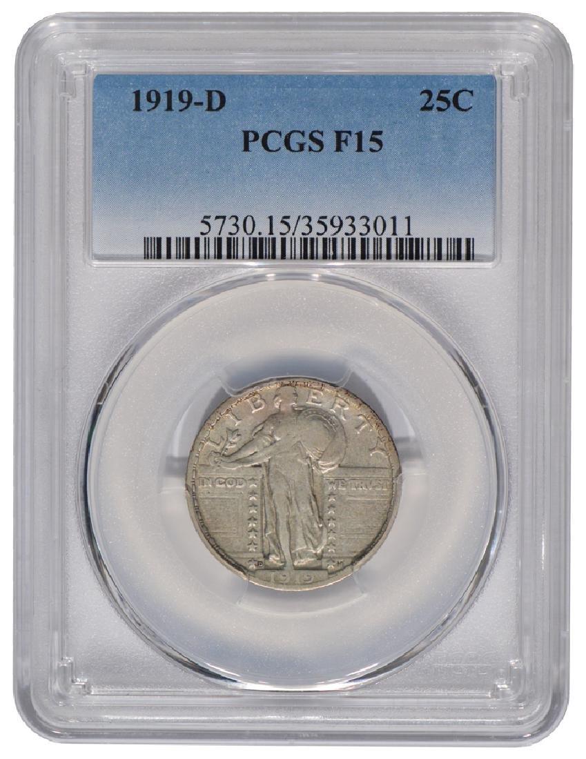 1919-S Standing Liberty Quarter PCGS F15