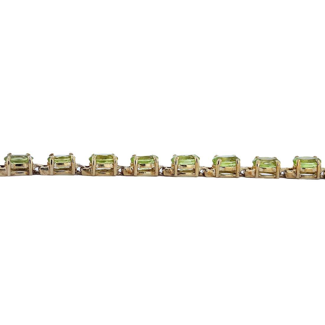 SILVER 8.80ctw Peridot Bracelet - 2