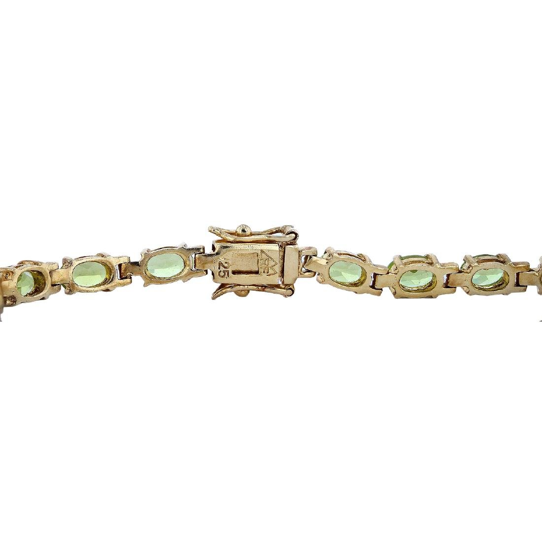SILVER 8.80ctw Peridot Bracelet - 3