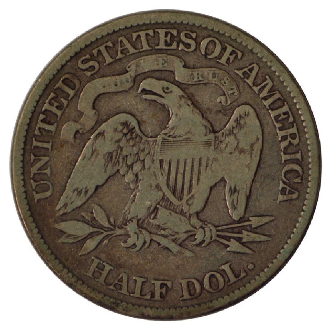 1891 Seated Liberty Half Dollar Coin - 2
