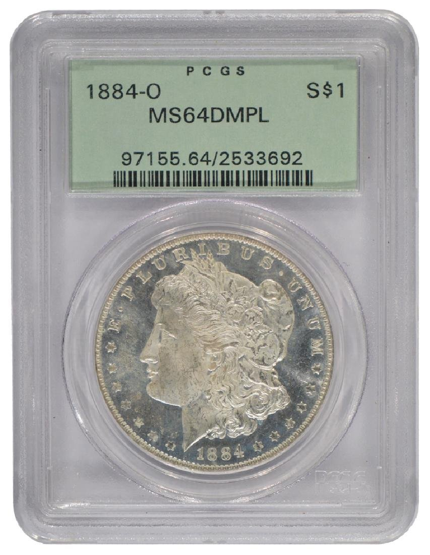 1884-O $1 Morgan Silver Dollar Coin MS64DMPL