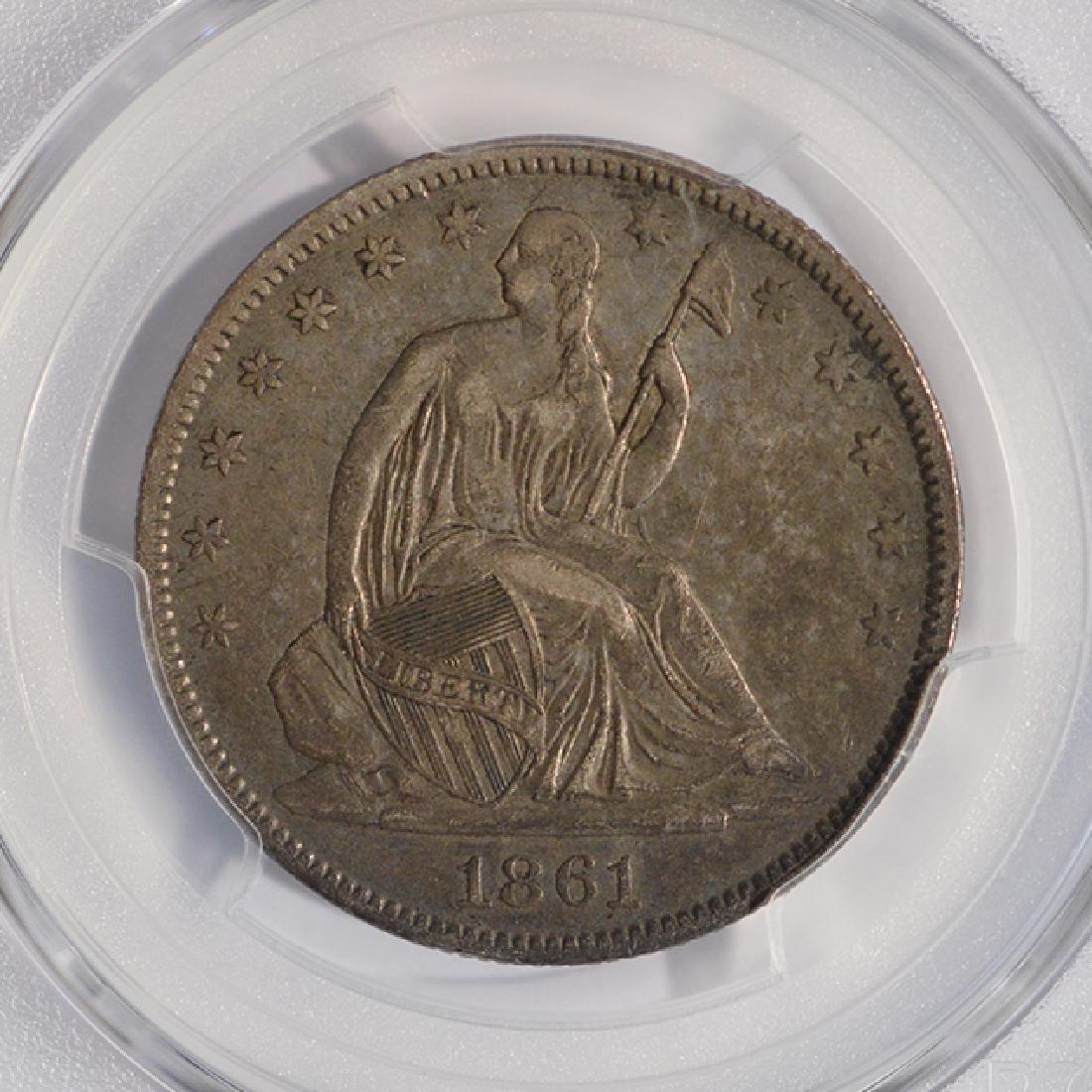 1861-O Seated Liberty Half Dollar PCGS XF40 - 3